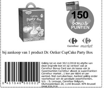 Carrefour kortingsbon : dr oetker party box