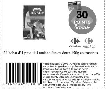 Coupon Carrefour : Landana jersey