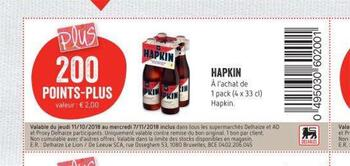 Coupon Delhaize : Hapkin