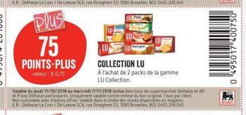 Coupon Delhaize : Lu