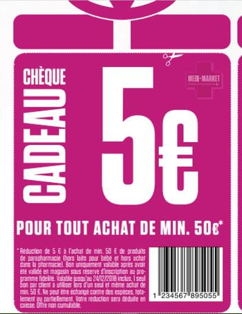 Coupon Medi-Market : Coupon de réduction -5 euros