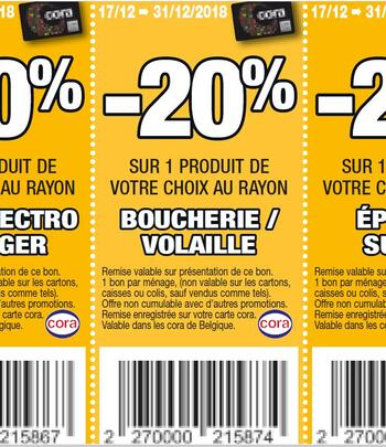 Coupon Cora : boucherie volaille 17-31 dec