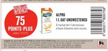 Coupon Delhaize : Alpro