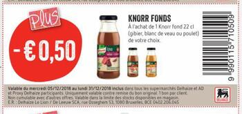 Coupon Delhaize : Knorr fonds