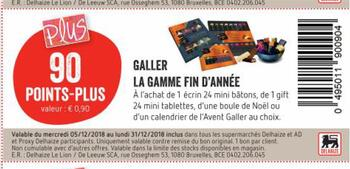 Coupon Delhaize : Galler