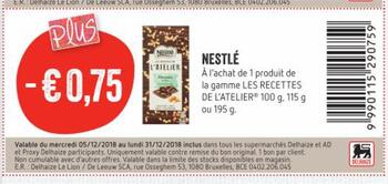 Coupon Delhaize : Nestle
