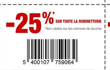 Coupon Brico : Robinetteries
