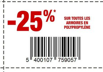 Coupon Brico : Armoires en pp