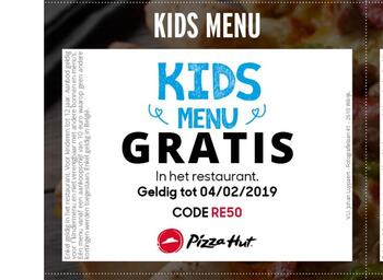 Pizza Hut kortingsbon : Kids menu