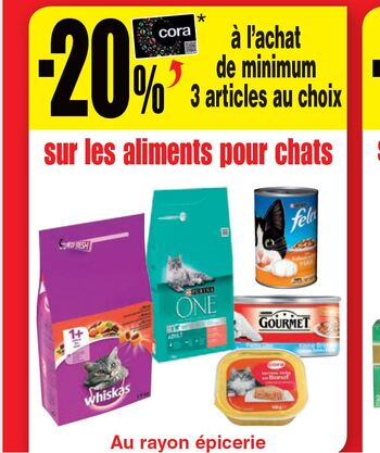 Coupon Cora : Alimentation chat