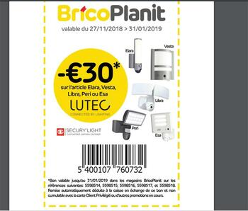 Coupon Brico Plan It : Article Lutec