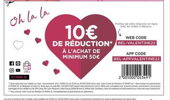 Coupon ICI PARIS XL : 10 euro de réduction