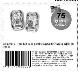 Coupon Carrefour : McCain Oven specials fr 10-3-2019
