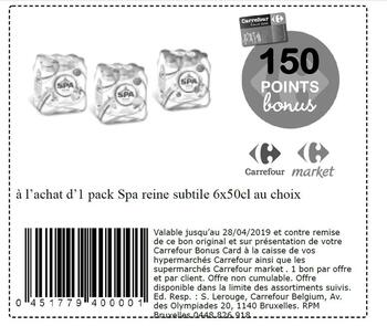 Coupon Carrefour : Spa reine subtile 2804