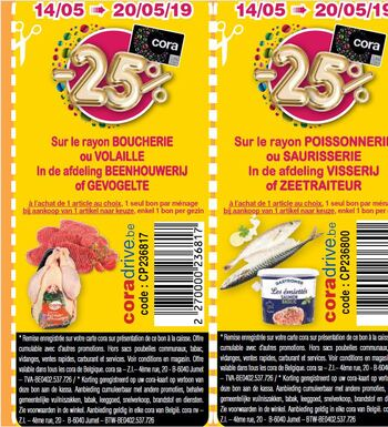 Coupon Cora : boucherie ou volaille