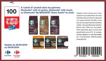 Coupon Carrefour : Starbucks