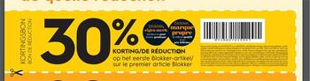 Coupon Blokker : -30%