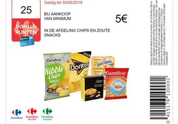 Carrefour kortingsbon : Chips en snacks