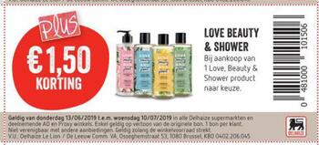 Delhaize kortingsbon : love beauty en shower