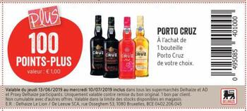 Coupon Delhaize : Porto Cruz