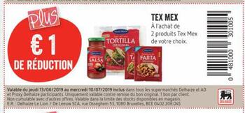 Coupon Delhaize : Tex Mex