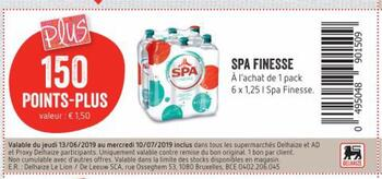 Coupon Delhaize : Spa