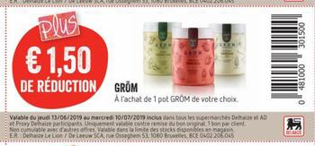 Coupon Delhaize : Gröm
