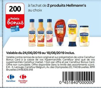 Coupon Carrefour : Hellmann's