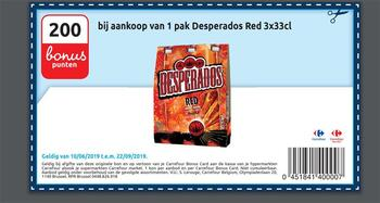 Carrefour kortingsbon : Desperados red