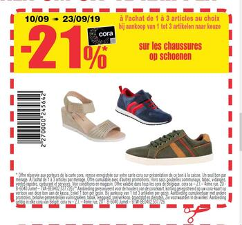 Coupon Carrefour : chaussures schoenen