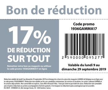 Coupon Gamma : Coupon de réduction