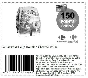 Coupon Carrefour : Houblon Chouffe