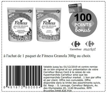 Coupon Carrefour : Granola