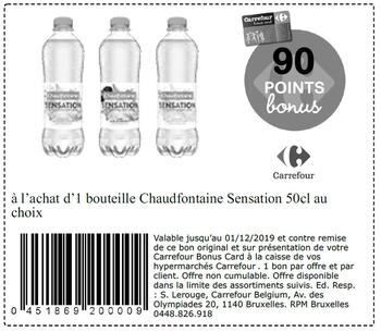 Coupon Carrefour : Chaudfontaine Sensation