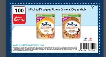 Coupon Carrefour : Fitness granola