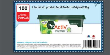 Coupon Carrefour : Becel proActiv