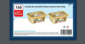 Coupon Carrefour : Planta met boter