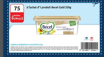 Coupon Carrefour : Becel gold