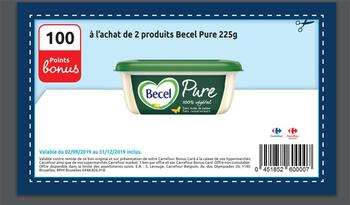 Coupon Carrefour : Becel Pure