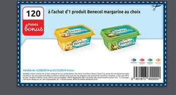 Coupon Carrefour : Benecol margarine