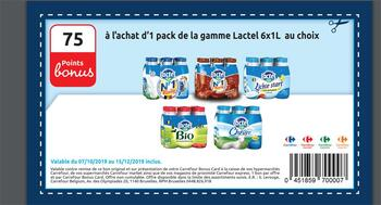 Coupon Carrefour : Lactel