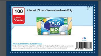 Coupon Carrefour : Yaos nature bio