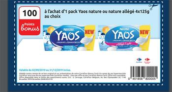 Coupon Carrefour : Yaos nature