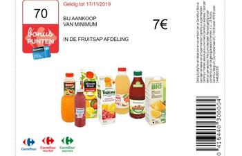 Carrefour kortingsbon : Fruitsap