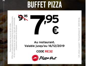 Coupon Pizza Hut : 7,95€