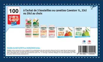 Coupon Carrefour : 100 points bonus Carrefour