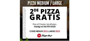 Pizza Hut kortingsbon : Pizza medium / large