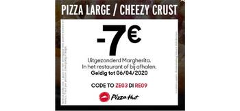 Pizza Hut kortingsbon : Pizza large